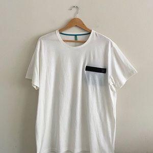 NWT mens Benetton zipper pocket t-shirt size XXL
